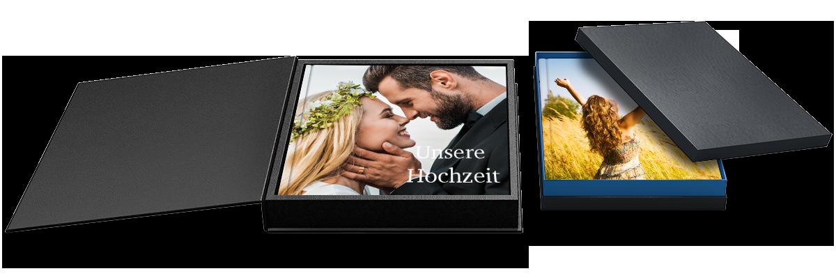 Geschenkebox Fotobuch gestalten, Fotobücher schnell online bestellen
